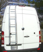 Ladder, rear door mounted, on Sprinter