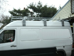 cargo carrier ladder rack on 06 Sprinter