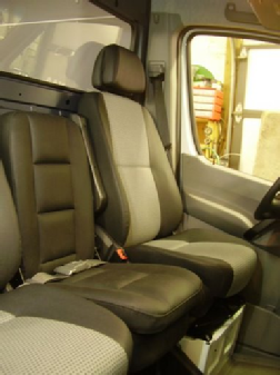 The 3rd-man seat installed in the 2007-2016 Sprinter
