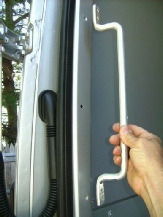 Sprinter aluminum rear door grab handle