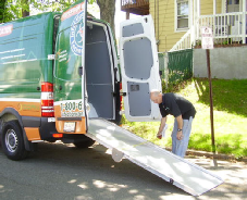 Sprinter ramp unfolded