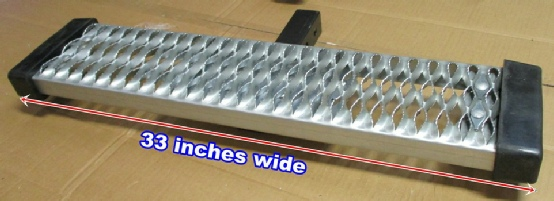 our gripper style hitch step is a big 33 inches wide