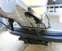 Sprinter ramp with spring assist mechanism, underside view