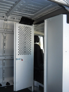 fleetline partition with door, shown open