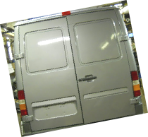 02-06 Sprinter rear doors with no glass yet