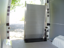 Sprinter ramp stowed position,  inside vehicle view